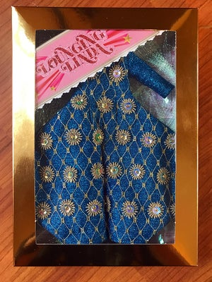 Image of Lounging Linda Luxe Embellished Bowie Suit ~ Blue Lurex