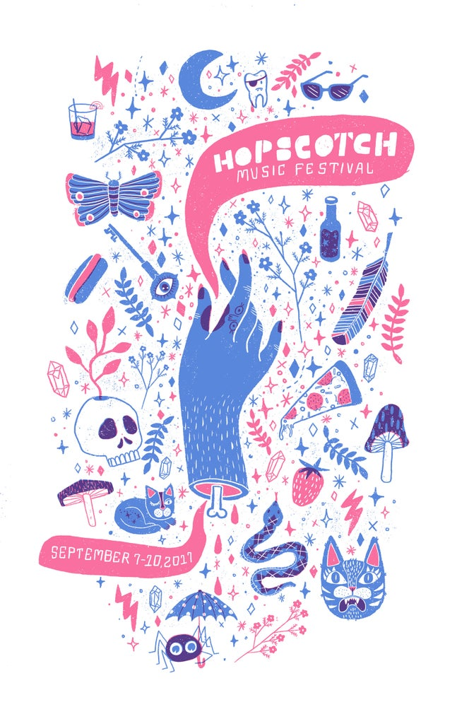 Image of Hopscotch Music Festival 2017 Poster