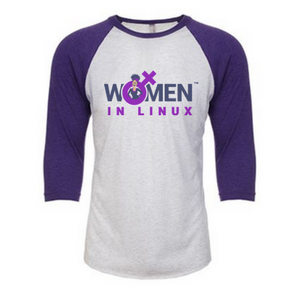 Image of Purple/Heather White - Raglan T Shirt