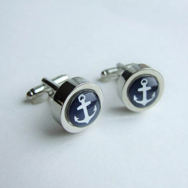 Image of Anchors Aweigh - Large Cuff Links