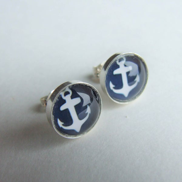 Image of Anchors Aweigh - Stud Earrings