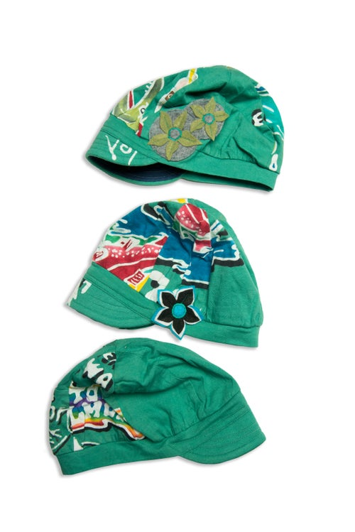 Image of Batik Hats custom made by our friend Flood Clothing!
