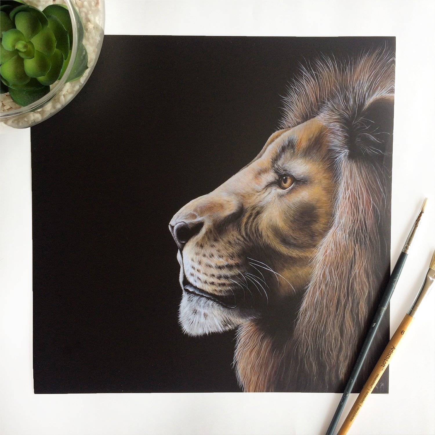 Image of Lion - Poster Print (various sizes)