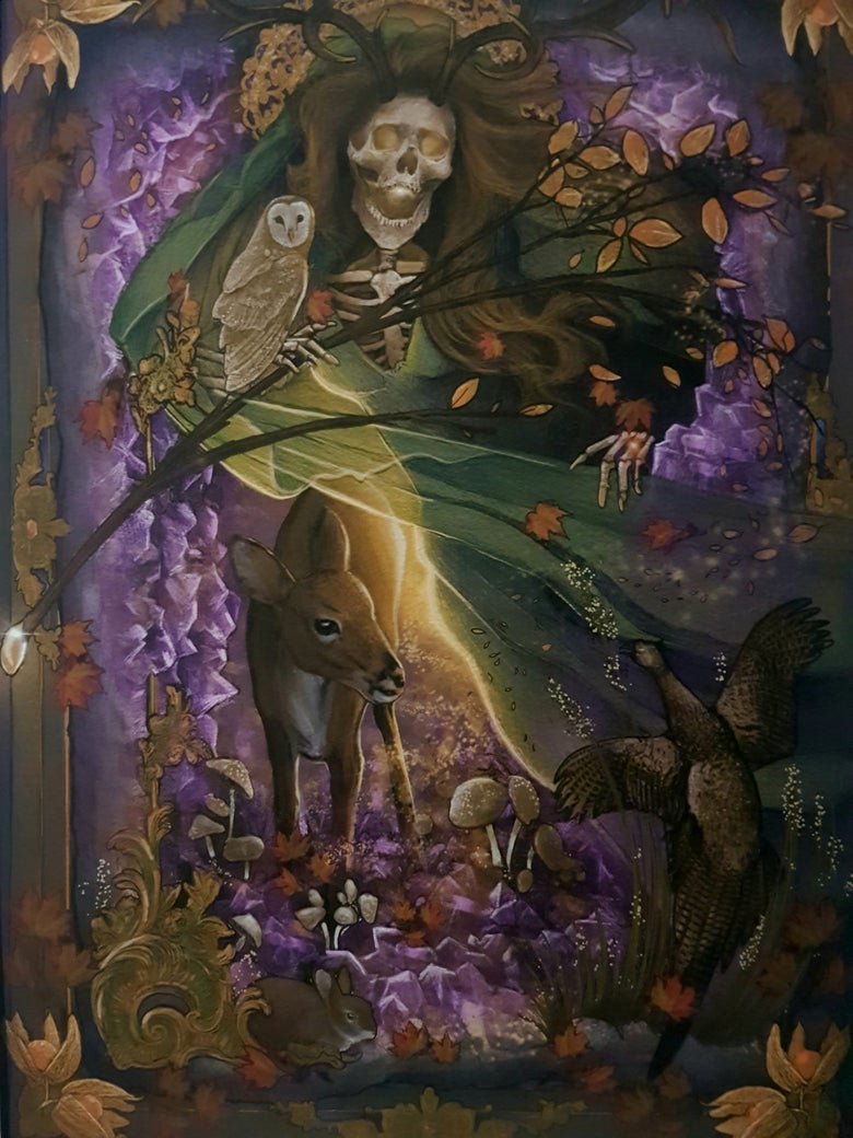 Image of Autumn Skeleton A3 by James Robinson