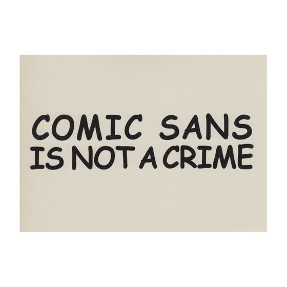 Image of Comic Sans Risograph Print + Sticker