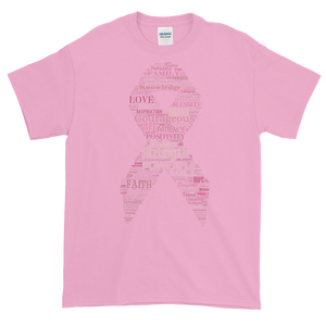 Image of Unisex Pink Ribbon Breast Cancer T-Shirt