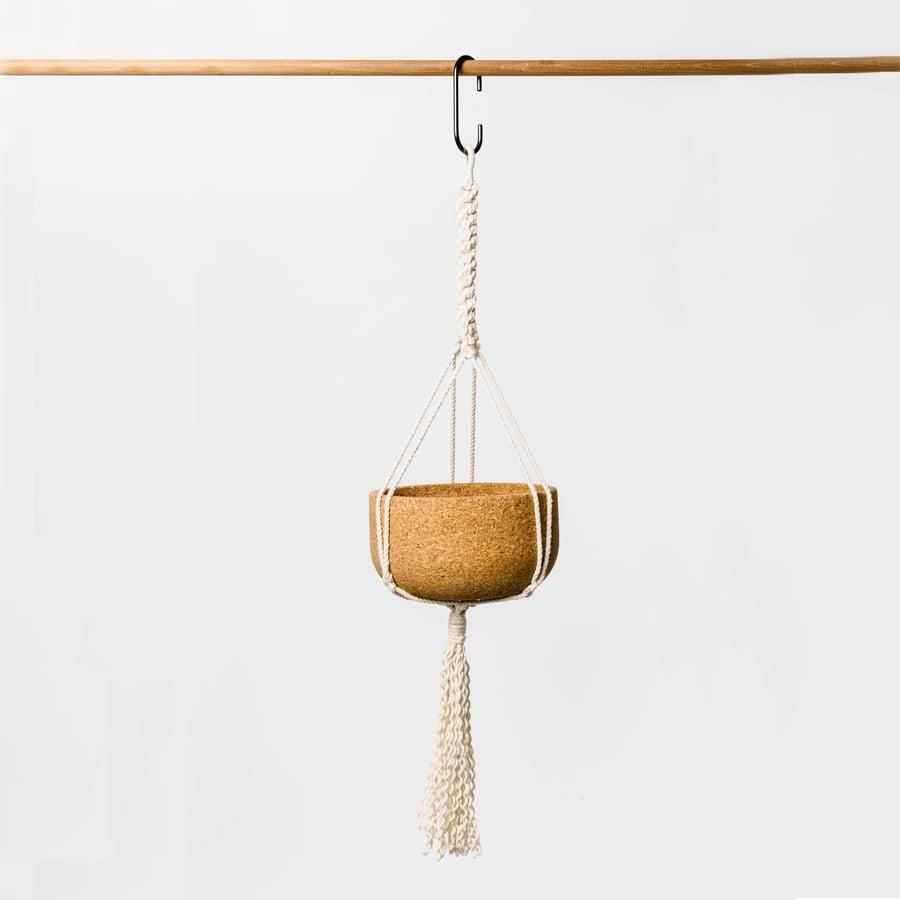 Image of Large Macrame Hanging Planter