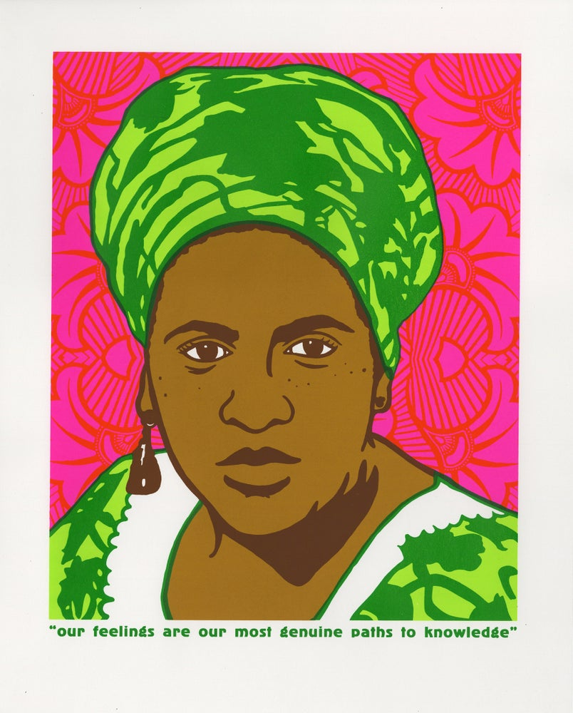Image of Our feelings are our most genuine paths to knowledge (Audre Lorde, 2017)