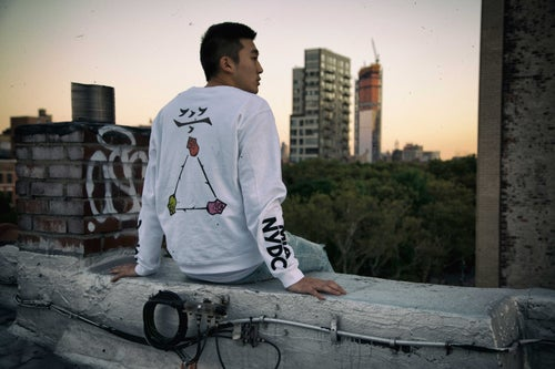 Image of chalk white crewneck