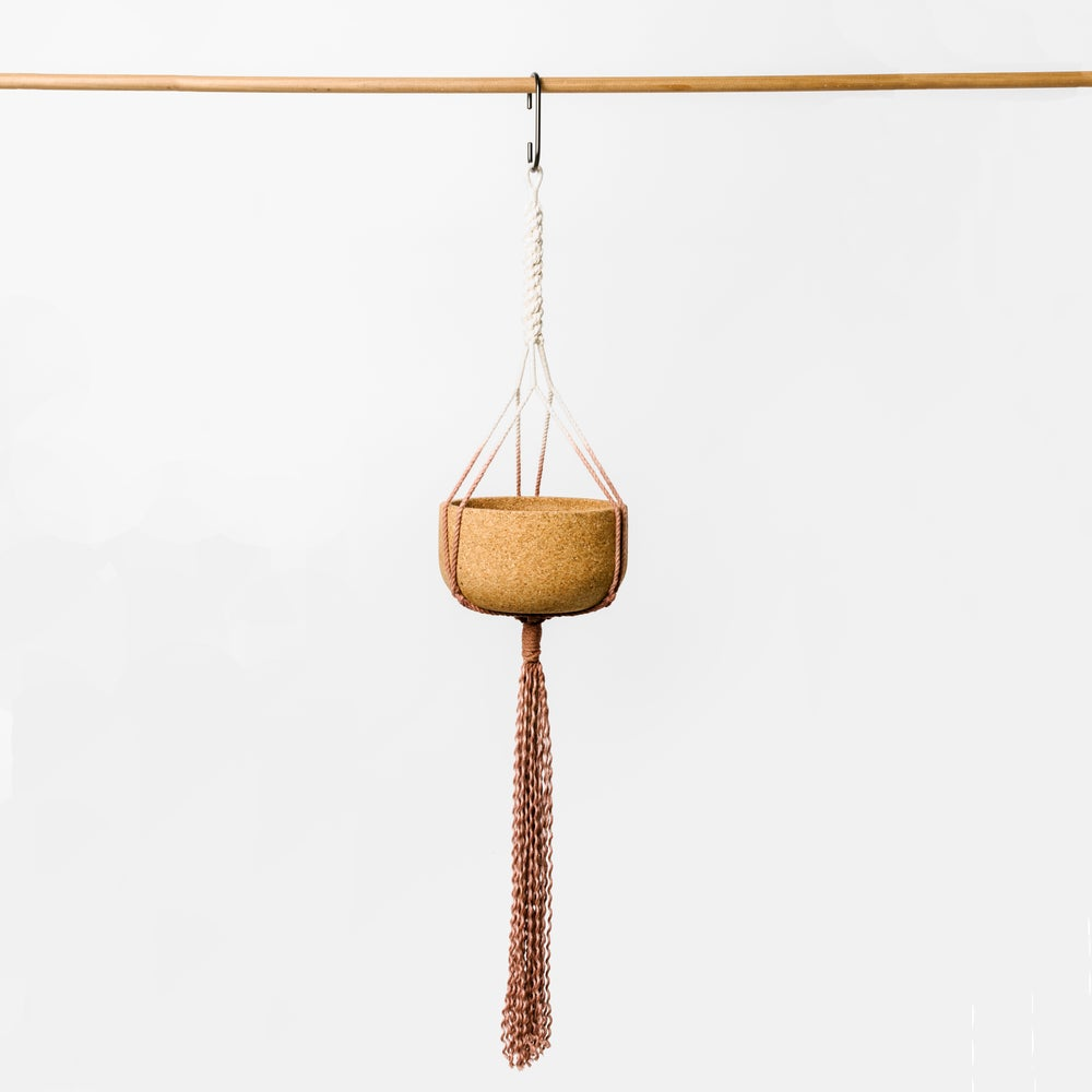 Image of Ombre Macrame Hanging Planter