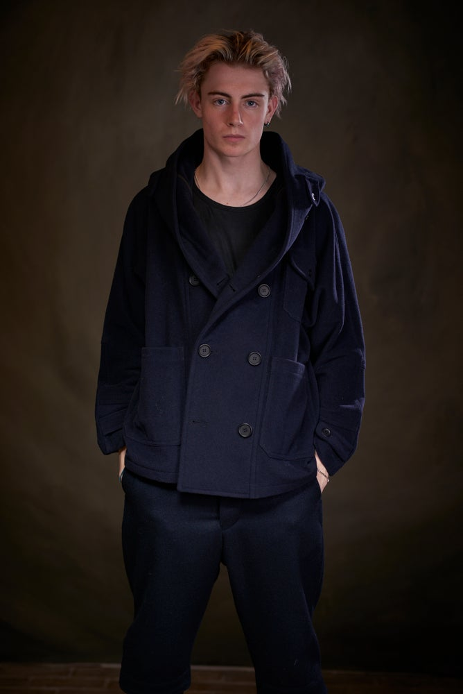 Image of Fisherman Short in Navy wool £315.00