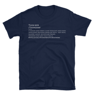Image of Be A Thinker Tee in Black, Navy and White