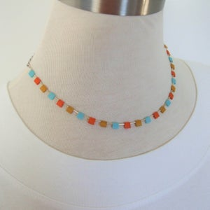 Image of Sata Fe Tile Necklace