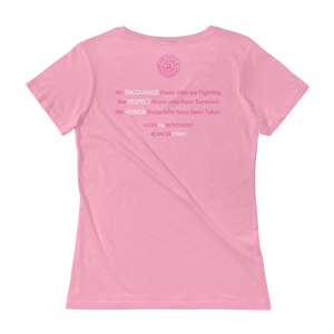 Image of Ladies Fit We Will Not Be Stopped Breast Cancer Tee in Pink or Black