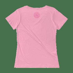 Image of Ladies Fit Deep Waters Breast Cancer Tee in Black or Pink