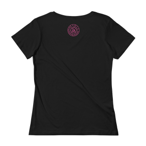 Image of Ladies Fit Deep Waters Breast Cancer Tee in Black or Pink