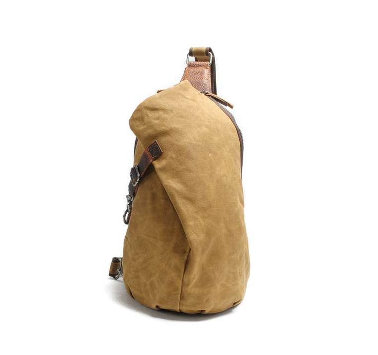 Image Of Canvas Sling Backpack Shoulder Bag