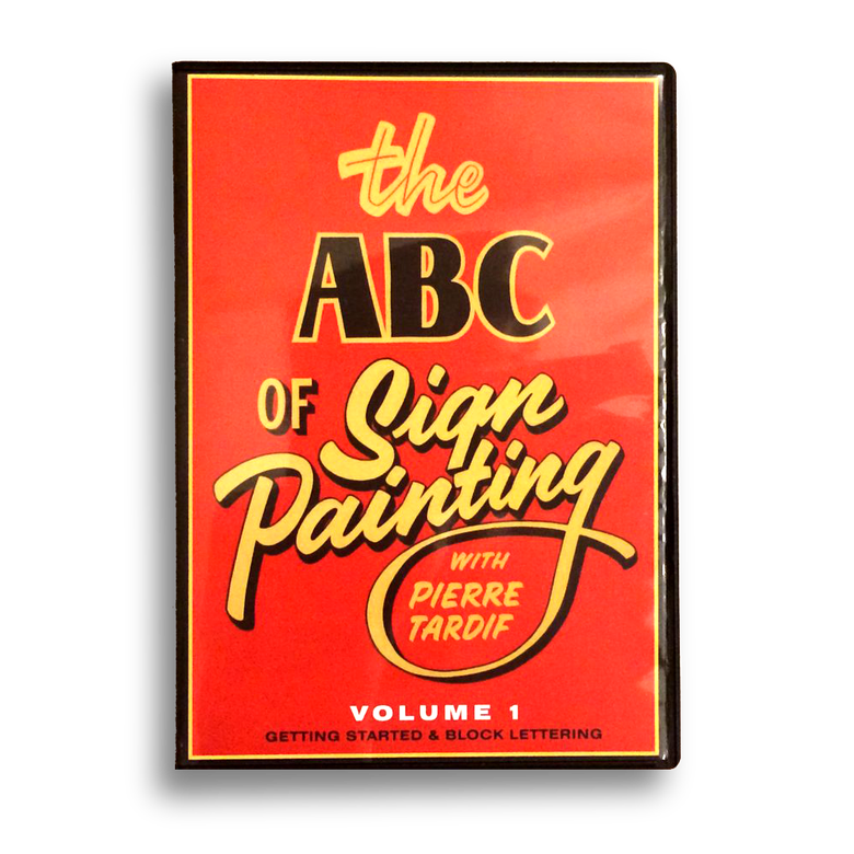 Image of The ABC of Sign Painting Volume 1 Block Lettering with Pierre Tardif DVD