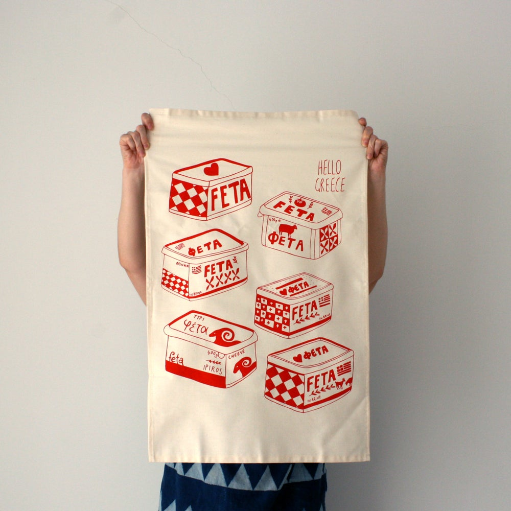 Image of Love Feta - Tea Towel