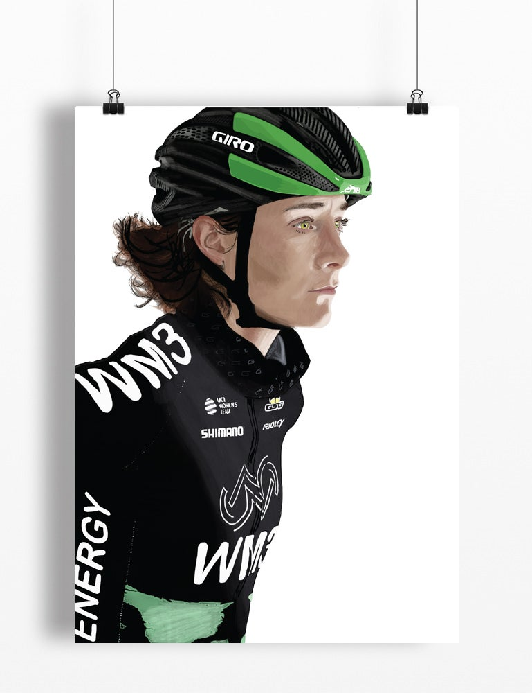Image of Marianne Vos A4 print - by Jason Marson