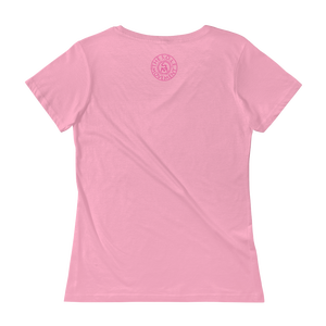Image of Ladies Fit Be Joyful Breast Cancer Tee in Black or Pink