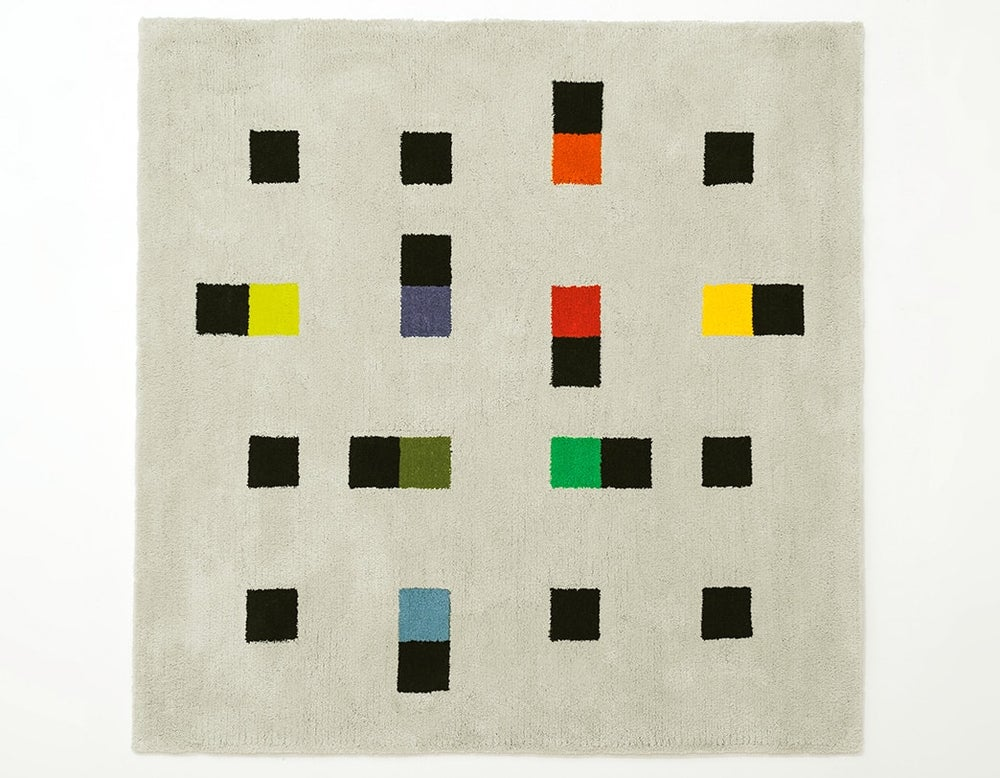 Image of Max Bill Graphic Rug - Colorful Accents