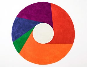 Image of Max Bill Graphic Rug - Color Wheel