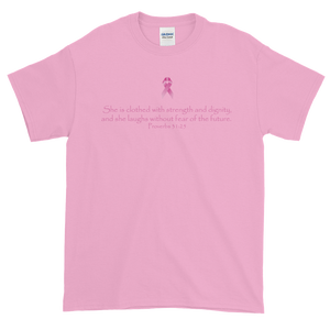 Image of Unisex Without Fear Breast Cancer T-Shirt