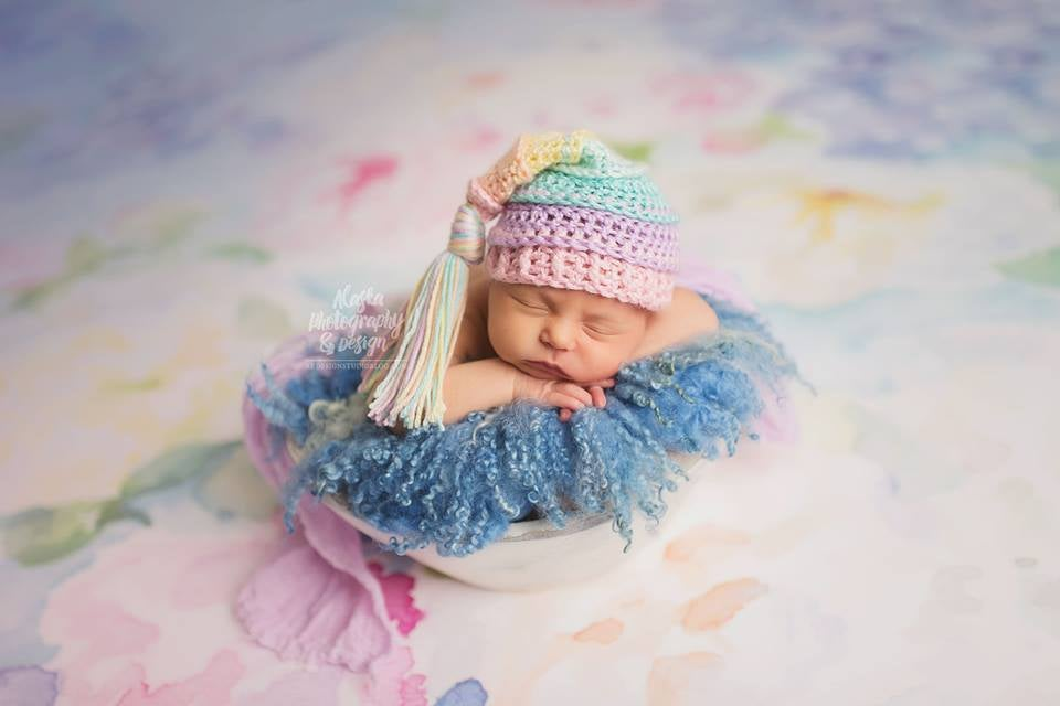 Image of Pastel Rainbow Tassel Hat