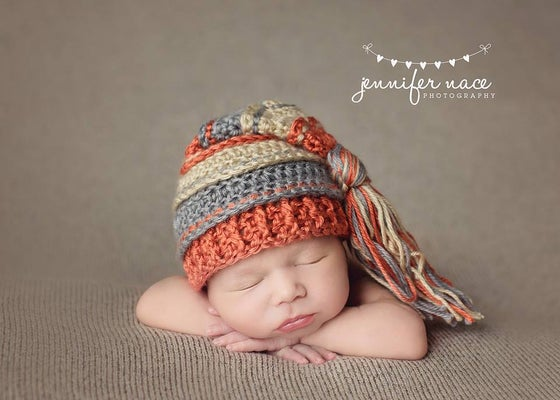 Image of Pumpkin Spice Tassel Hat