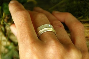 Image of  Leaf print spinner ring (Made to order)