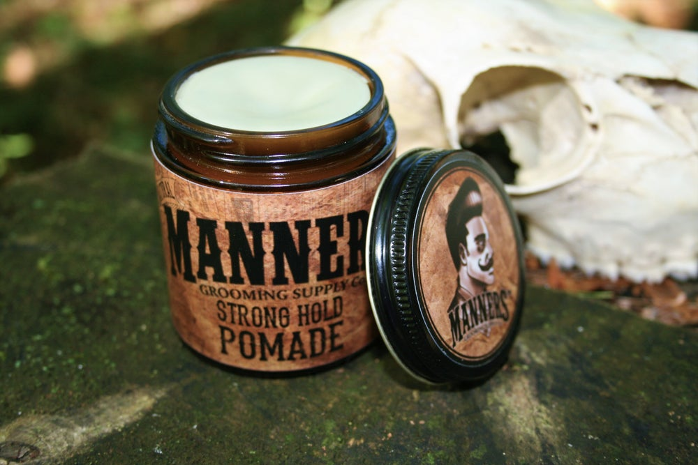 Image of STRONG HOLD POMADE - 4oz. Glass Jar (Wax-Based)
