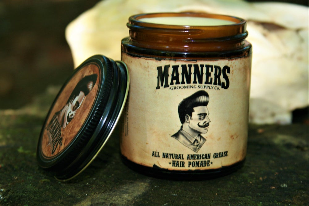 Image of WAX-BASED POMADE (ALL-NATURAL) - 4oz. Amber Glass Jar (choose a scent)