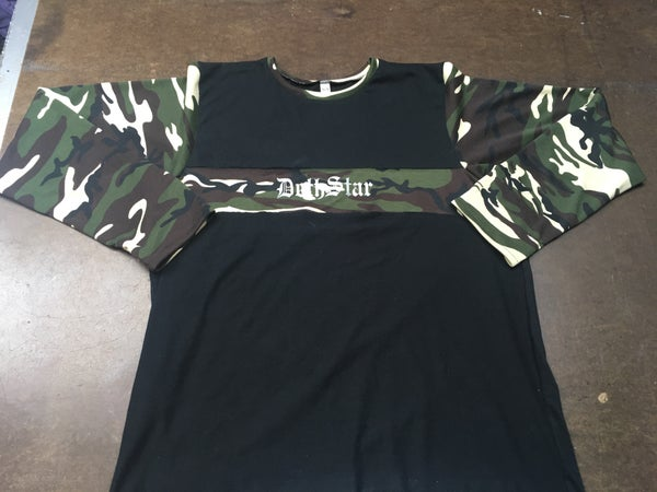 Image of Black/Green camo longsleeve 3m shirt
