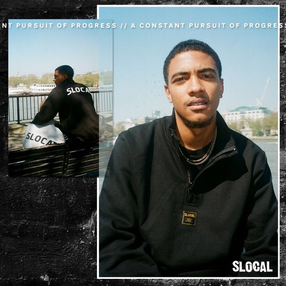 Image of SLOCAL 1/4 ZIP - Black