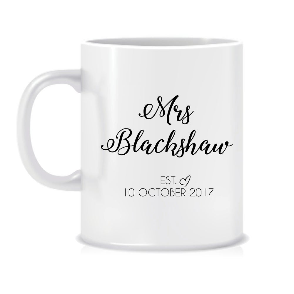 Image of Personalised bridal mug