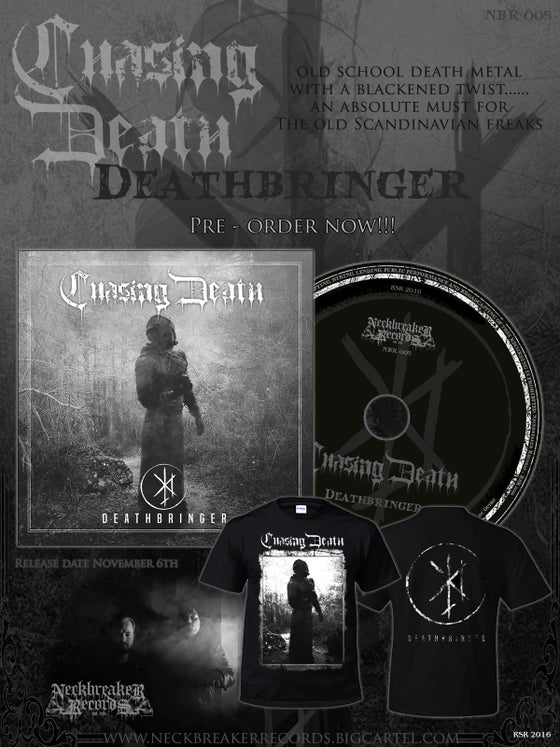 Image of Chasing Death - Deathbringer MCD + Shirt Bundle