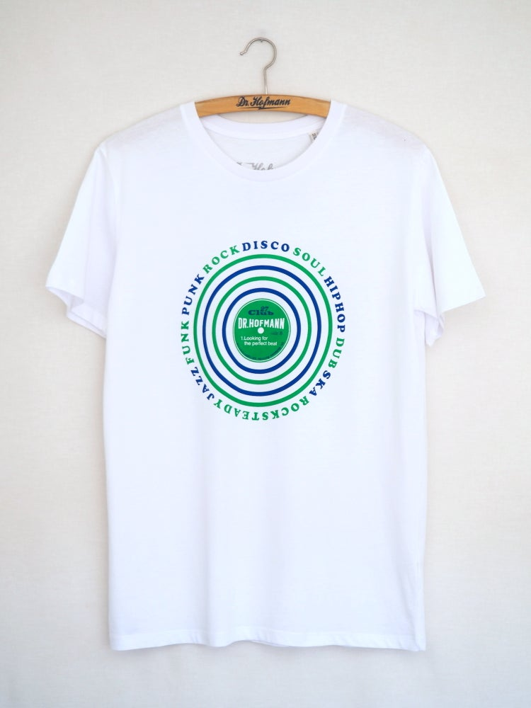 "Image of ""LOOKING FOR THE PERFECT BEAT Tee"" - White - Organic Cotton"