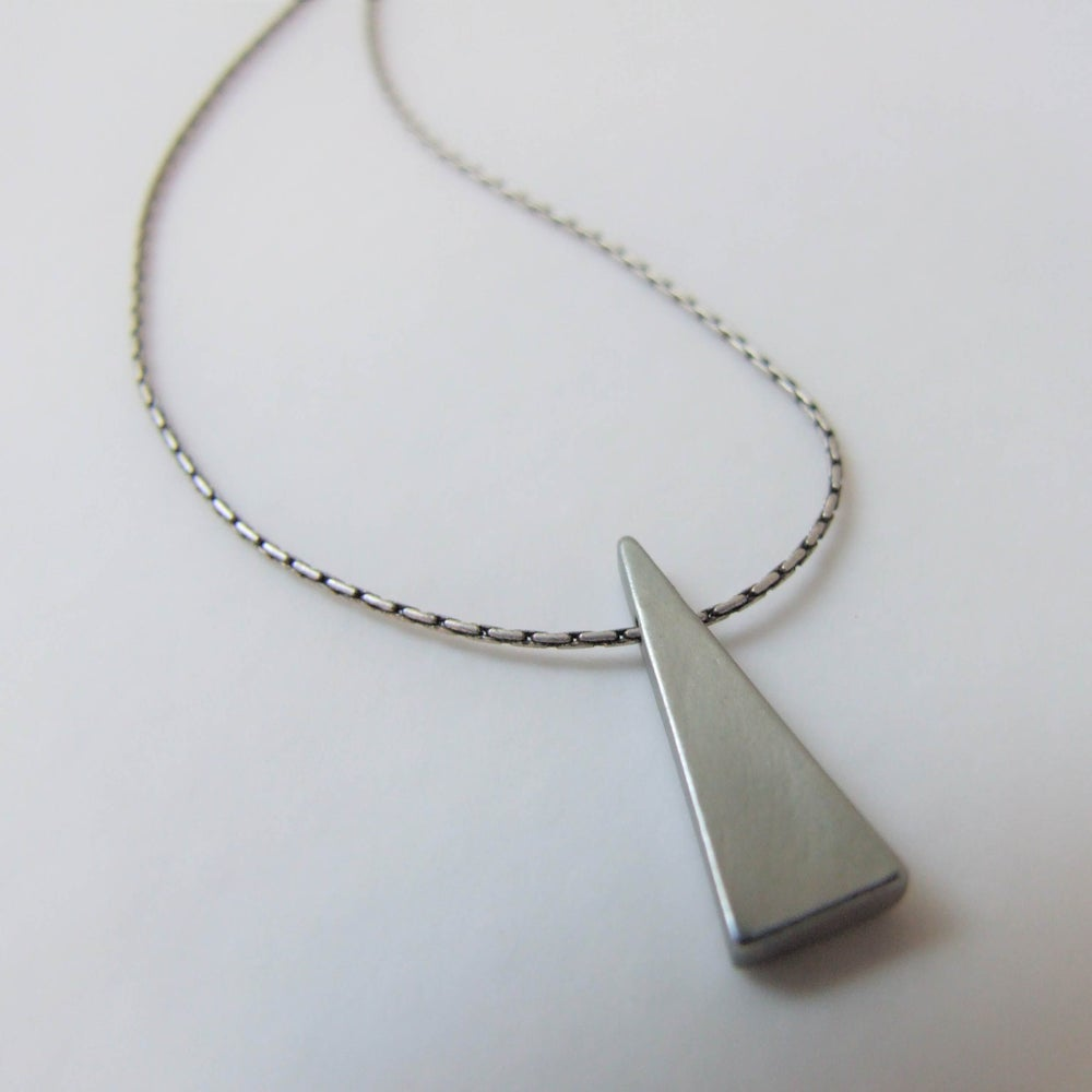 Image of Simple Geometric - Silver Triangle