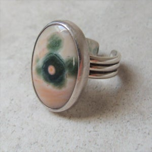 Image of Ocean Jasper Sterling SIlver Ring (One of a Kind)