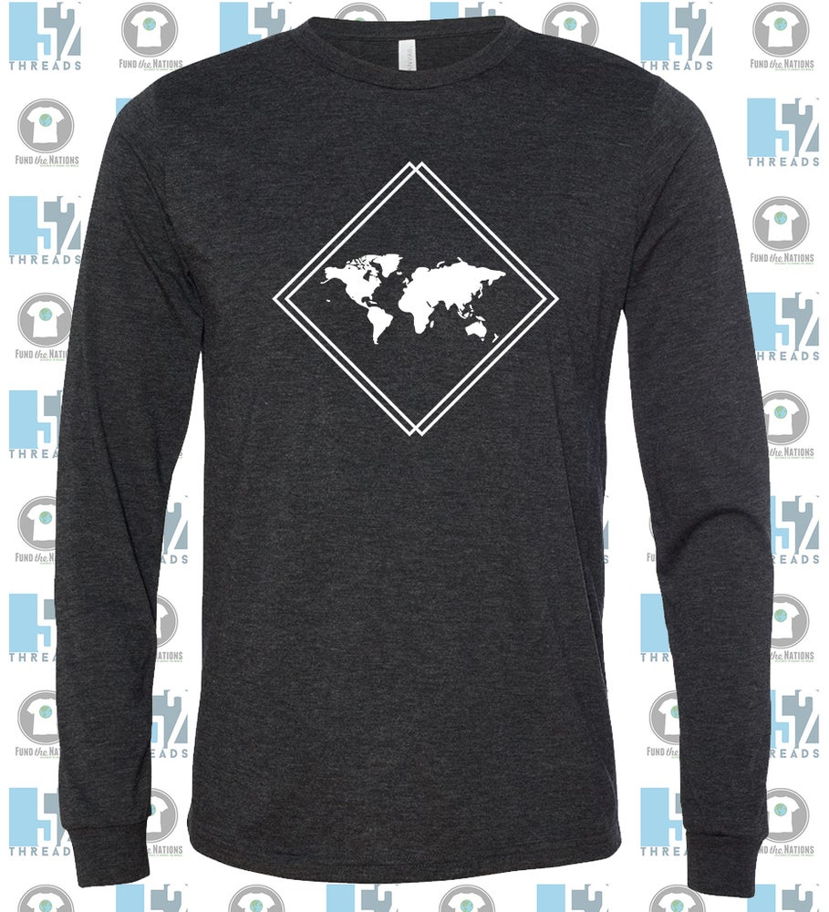Image of Long Sleeve Soft-style T-shirt {Charcoal}