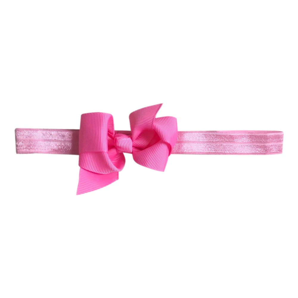Image of Flamingo Baby Bow Headband