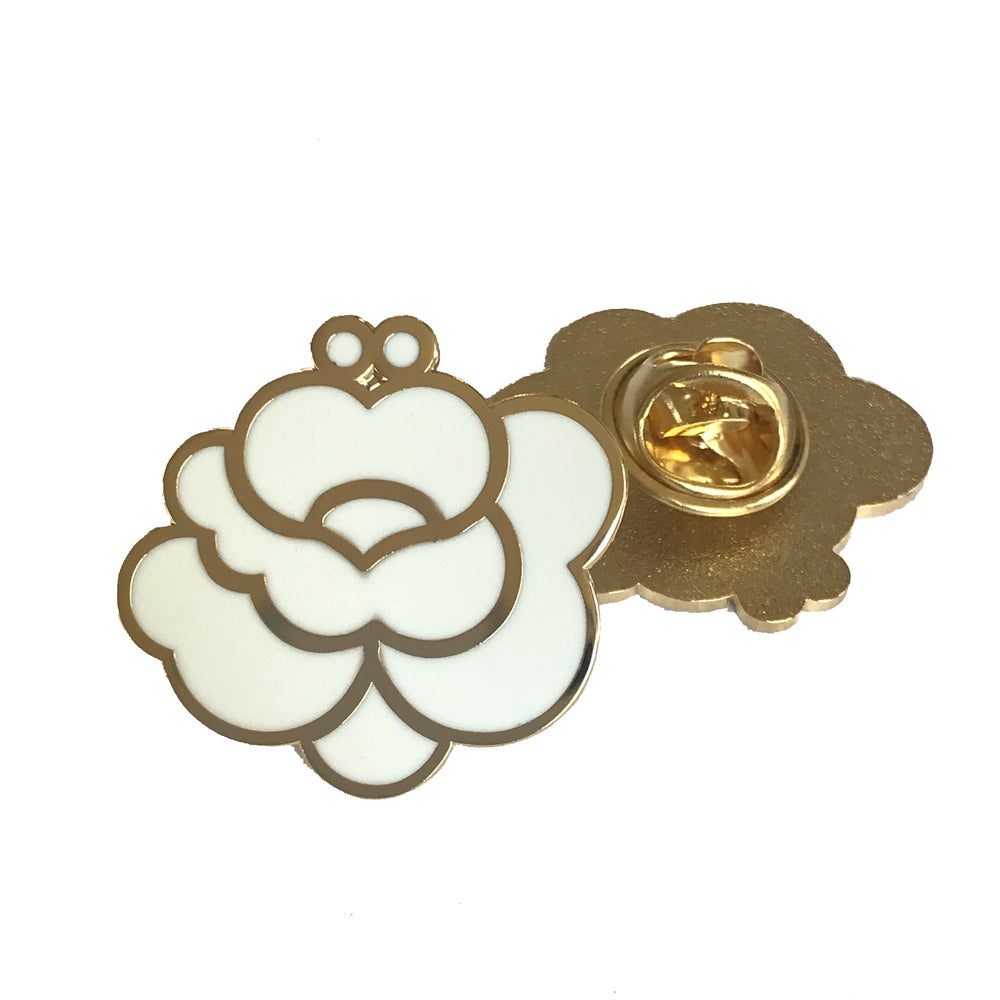 Image of White & Gold Classic Pin
