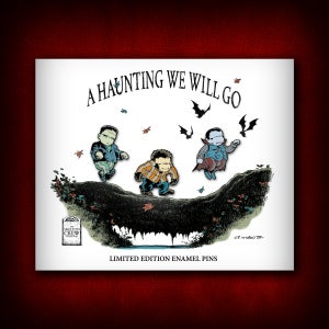"Image of The Skelton Crew Collection: Limited Edition ""A Haunting We Will Go"" pins! FREE U.S. shipping!"