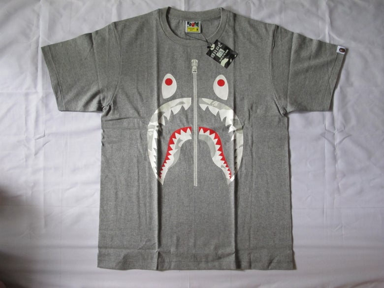 Image of A Bathing Ape (Bape) - Shark City Camo (Grey)