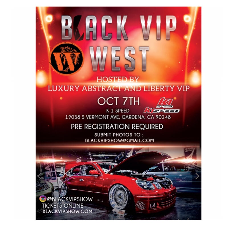 Image of Black VIP West , Vehicle Registration , Oct 7th , CA