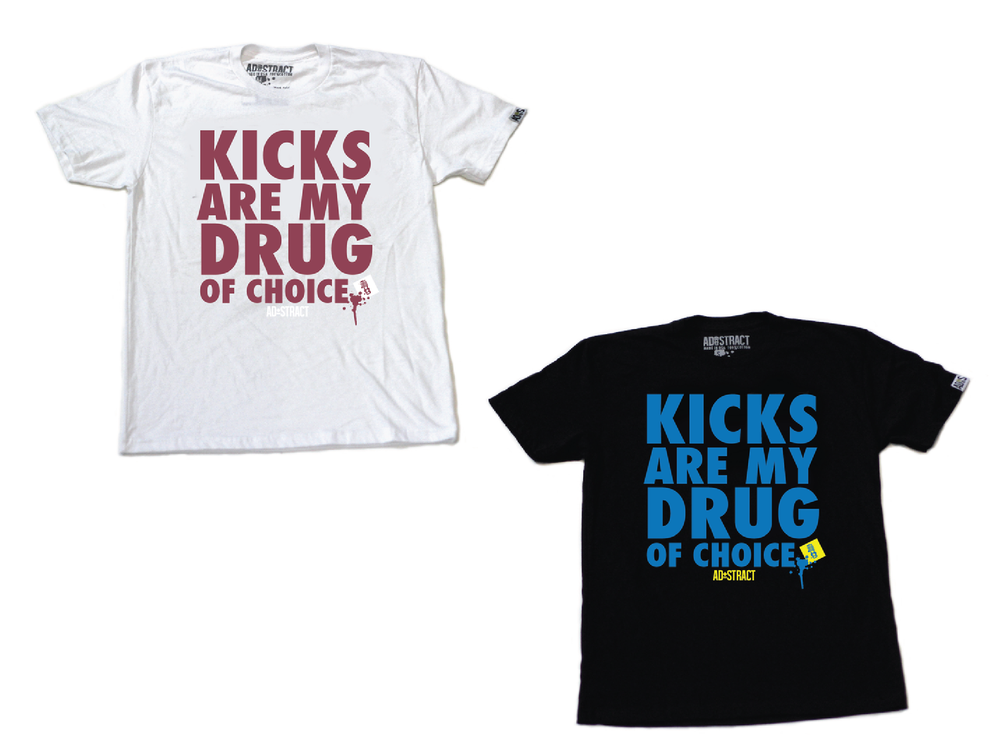 "Image of KICKS  ""LANEY OR MAROON"" TSHIRT"