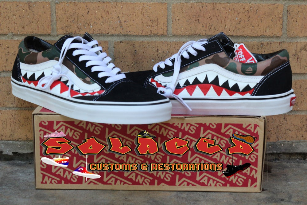 0b8dd813e5b Vans x Bape Old Skool Custom   Solaced Customs   Restorations
