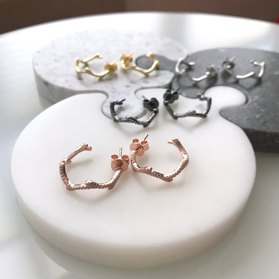 Image of Branch Hoop Earrings