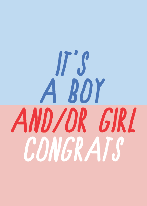 Image of it's a boy and/or girl